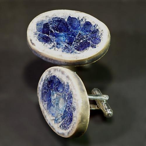 Cufflinks - Amethyst Crystal