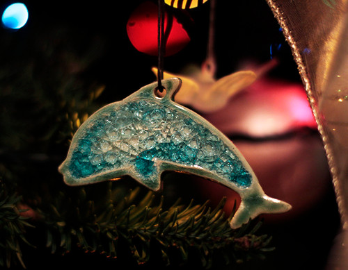 Christmas Tree Ornament Dolphin
