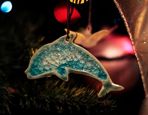 Christmas Tree Ornament Dolphin