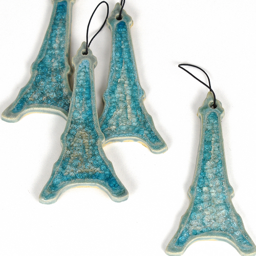 Eiffel tower ornaments