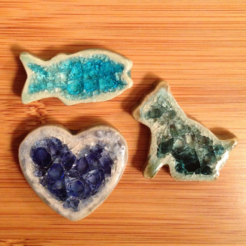 Recycled Glass Pins