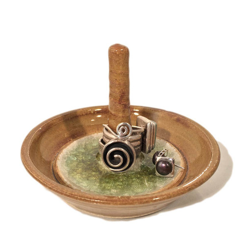 ring holder shown with jewelry