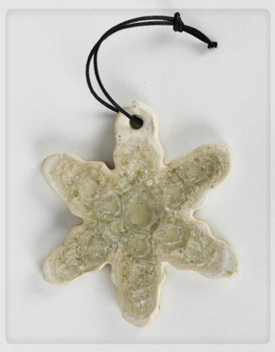 snowflake glass ornament