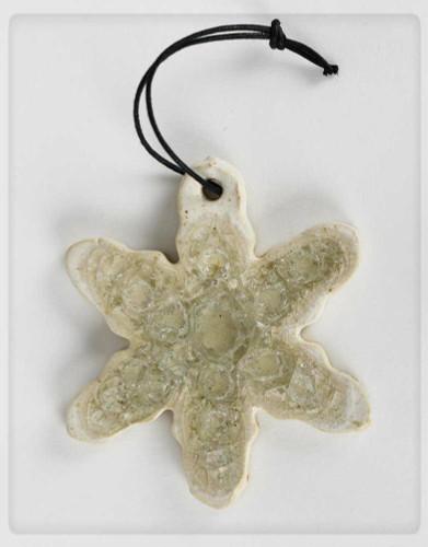 snowflake glass ornament