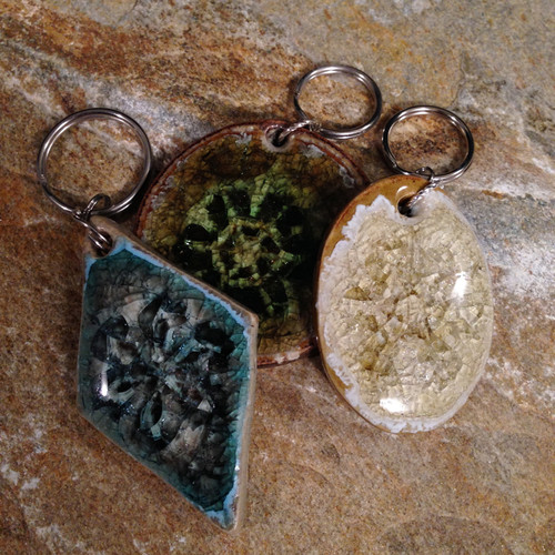 Recycled Glass Keychains