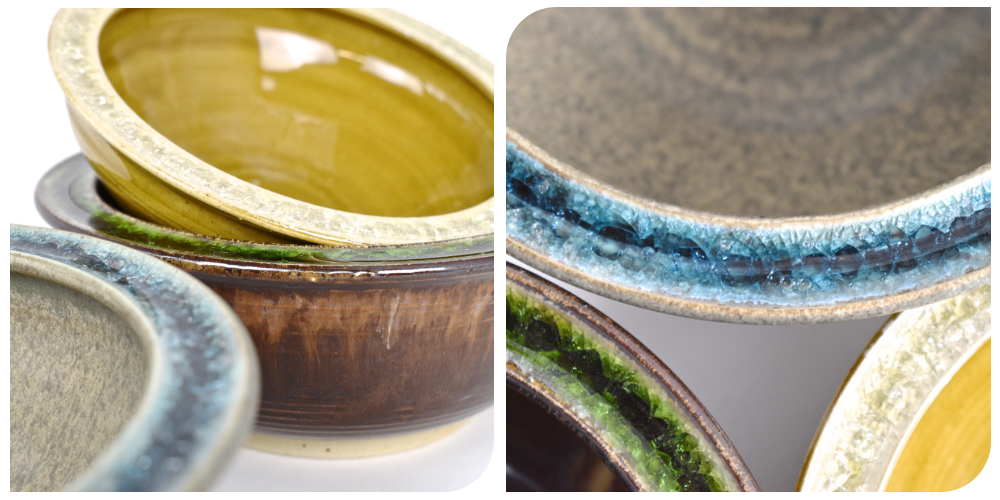 recycled glass pottery dinnerware