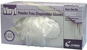 Case/10 General Purpose Glove McKesson Large Vinyl Translucent Beaded Cuff NonSterile