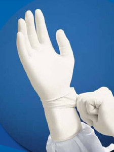 Case of 200 Pairs - Cleanroom Glove CritiGear™ Large Nitrile White 12 Inch Beaded Cuff Sterile