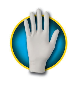 Case/1400 - Utility Glove Kleenguard® G10 X-Large Nitrile Gray 241 mm Beaded Cuff NonSterile