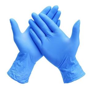 Case of 48 Utility Glove Medium Latex / Nitrile Blue 13 Inch Straight Cuff NonSterile