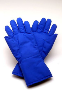 Cryogenic Glove Cryo-Gloves® Mid-Arm Size 9 Water Resistant Material Blue 14 to 15 Inch Straight Cuff NonSterile