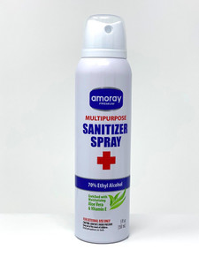 Case of 12- Multi-Purpose Sanitizer Aerosol Spray for Hands and Surfaces