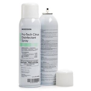 Case/12 Surface Disinfectant Cleaner McKesson Pro-Tech Alcohol Based Liquid 16 oz. NonSterile Can Citrus Scent