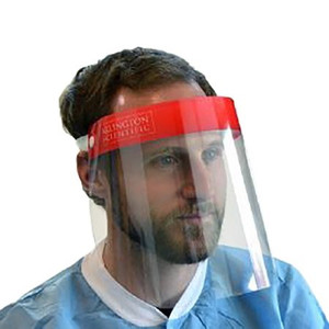 Box/25 Wraparound Face Shield One Size Fits Most Full Length Anti-fog Disposable NonSterile