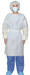 Case/100 Over-the-Head Protective Procedure Gown Adult X-Large Yellow NonSterile AAMI Level 2 Disposable