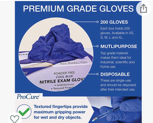 Case/1000 Procure Nitrile Exam Gloves