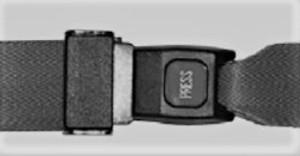 STRAP, RESTRAINT STRETCHER/BACKBOARD 2PC BURG 5' (36EA/CS)