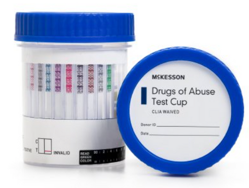 Drugs of Abuse Test McKesson 14-Drug Panel with Adulterants AMP, BAR, BUP, BZO, COC, mAMP/MET, MDMA, MOP300, MTD, OXY, PCP, PPX, TCA, THC (OX, pH, SG) Urine Sample 25 Tests