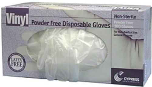 Case/10 General Purpose Glove McKesson Medium Vinyl Translucent Beaded Cuff NonSterile
