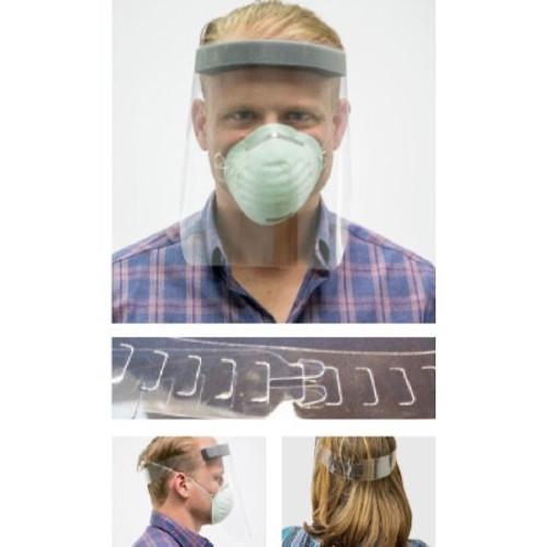 Case/100 Face Shield EZ Fit Splash™ One Size Fits Most Full Length Anti-fog Disposable NonSterile