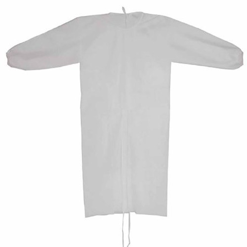 Case/100 Protective Procedure Gown Adult One Size Fits Most White NonSterile Disposable