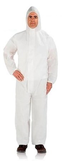Case/50 Coverall with Hood Cypress X-Large White Disposable NonSterile