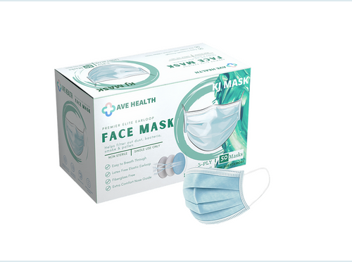 BOGO Offer Two Cases/2500 Ave Health 3-ply Masks