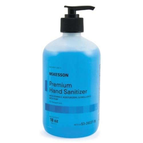 Case/12 Hand Sanitizer McKesson Premium 18 oz. Ethyl Alcohol Gel Pump Bottle