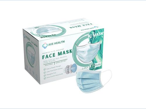 Box/50 Ave Health 3-ply Masks