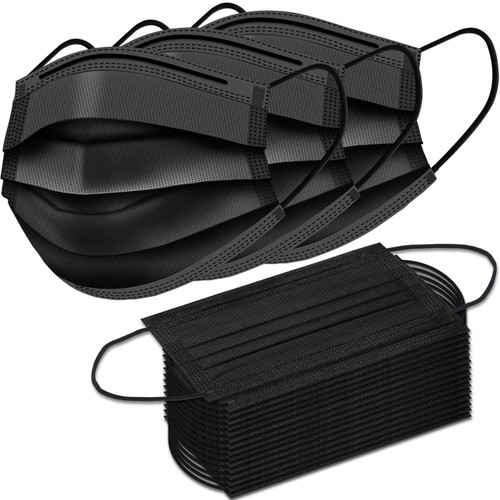 Box/50 Black 3ply Masks