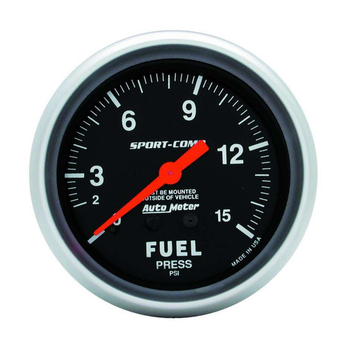 0-15 Fuel Pressure Gauge