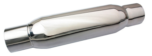 S/S Spiral Flow Muffler - 3in Polished