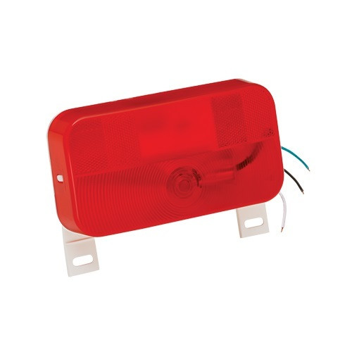 Taillight Surface Mount #92 Red W/ License Brkt