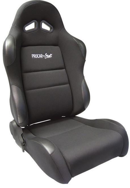 Sportsman Racing Seat - Right - Black Vinyl/Vlur
