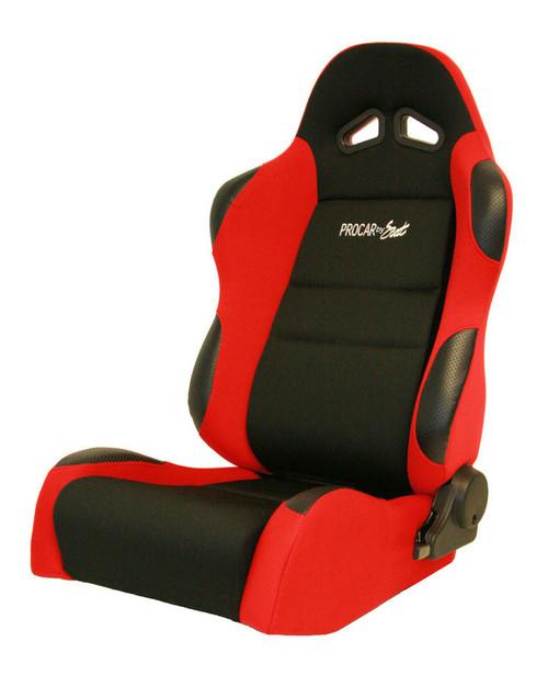 Sportsman Racing Seat - Left - Red Velour