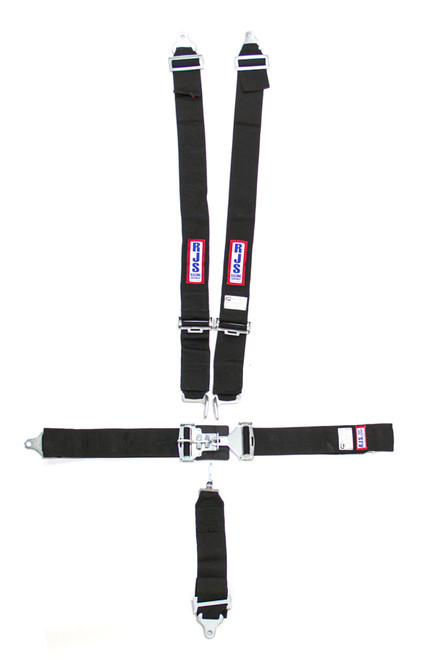 5-Pt Harness System BK Ind Bolt In Mt 3in Sub