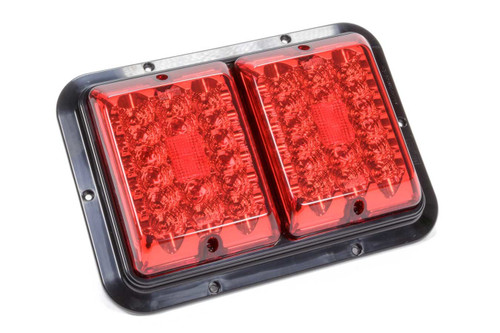 Taillight #84 LED Surfac e Mount Red/Red Blk Base