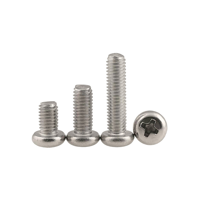 Stainless Steel Phillips Round Pan Screw
