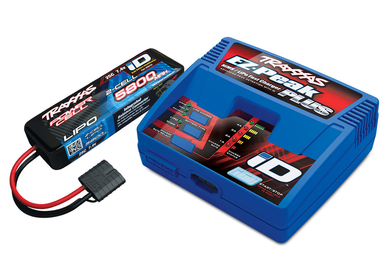 2992 - Battery/charger completer pack (includes #2970 iD® charger (1), #2843X 5800mAh 7.4V 2-cell 25C LiPo battery (1))