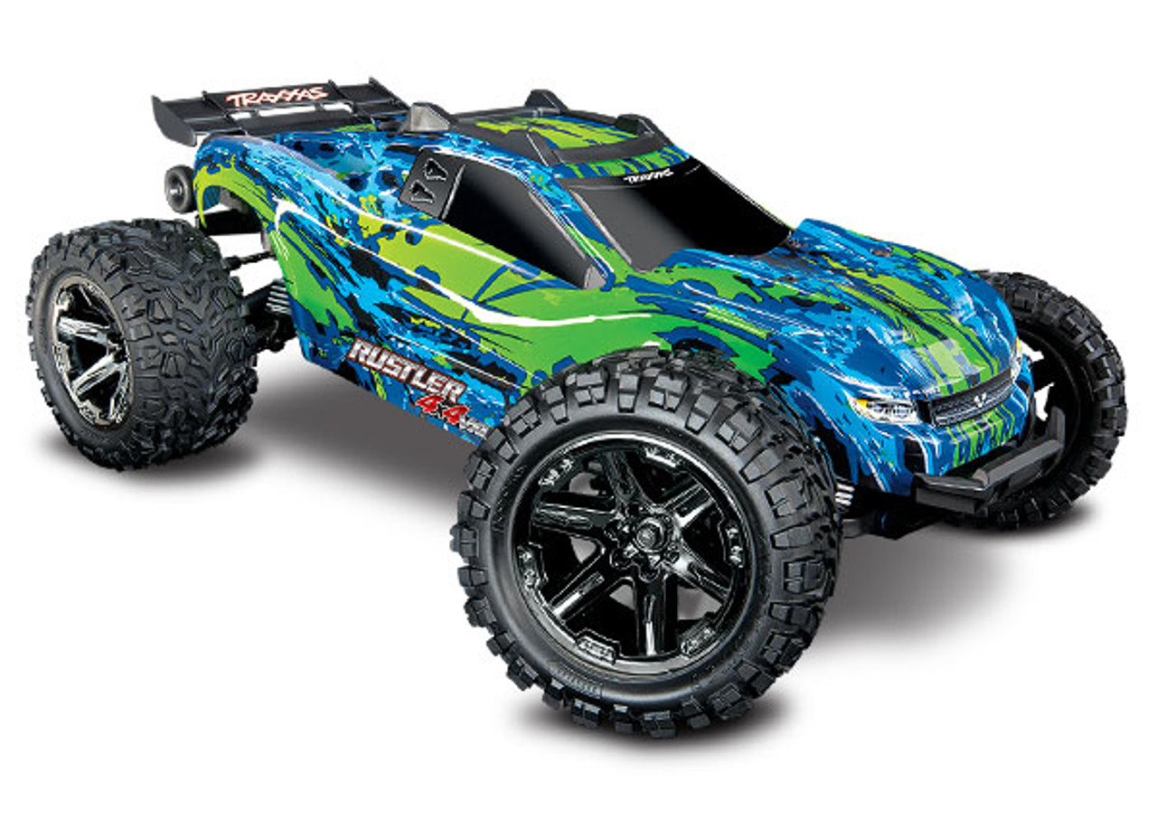 67076-4 - Rustler® 4X4 VXL: 1/10 Scale Stadium Truck. Ready-to-Race® with TQi Traxxas Link™ Enabled 2.4GHz Radio System, Velineon® VXL-3s brushless ESC (fwd/rev), and Traxxas Stability Management (TSM)®
