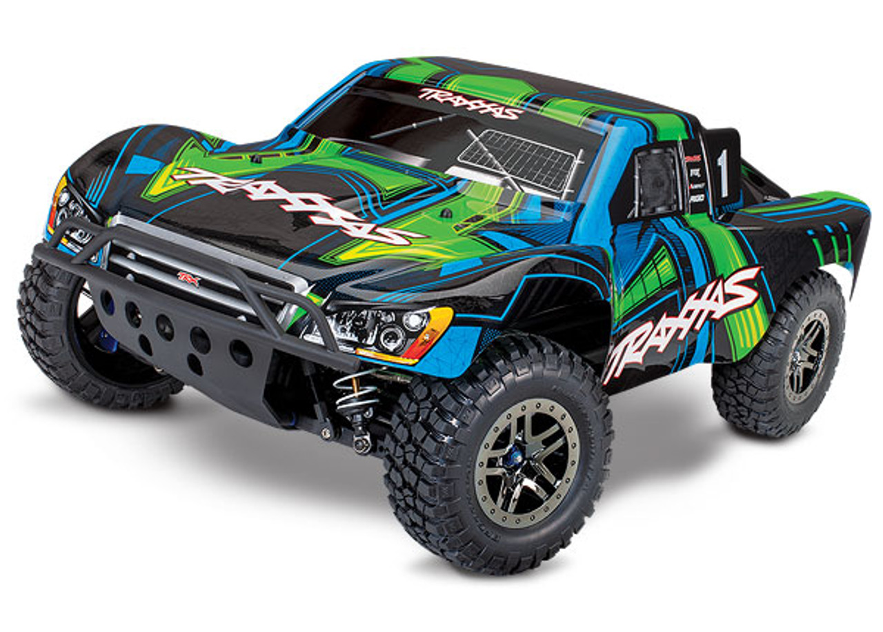 68077-4 - Slash 4X4 Ultimate Edition: 1/10 Scale 4WD Electric Short Course Truck. Ready-to-Race® with TQi Radio System and Traxxas Link™ Wireless Module, Low-CG chassis, Velineo®n VXL-3s brushless ESC (fwd/rev), and Traxxas Stability Management (TSM)®.