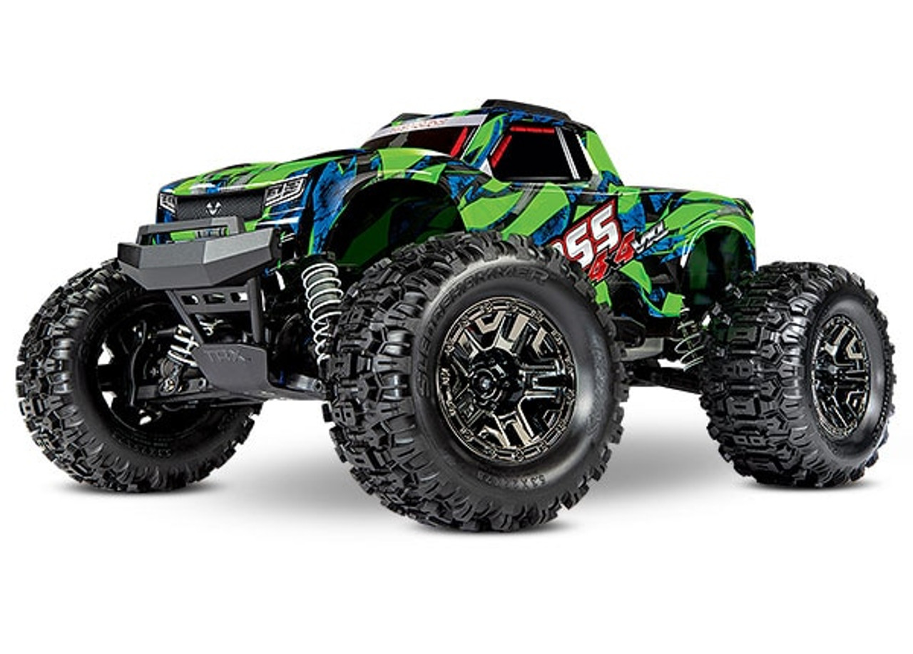 T90076-4 - Hoss™ 4X4 VXL: 1/10 Scale Monster Truck with TQi Traxxas Link™ Enabled 2.4GHz Radio System & Traxxas Stability Management (TSM)®