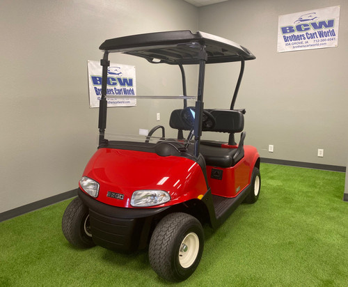 2019 EZGO RXV 48V ELECTRIC-FLAME RED