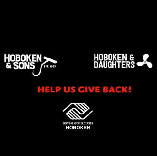 Hoboken & Sons Distressed Logo Pullover Hooded Sweatshirt