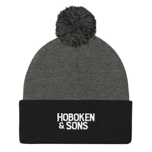 Hoboken & Sons Embroidered Logo Pom Pom Knit Cap