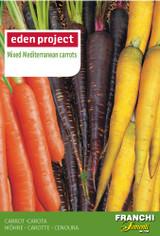 Mixed Mediterranean Carrots Orange/Purple/Yellow - Daucus carota