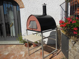 Pizza/Wood Oven/Smoker. 70x70cm/ 55KG - Door with window