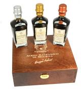 Balsamic vinegar PGI gift set in a wooden presentation box. UK Only