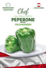 Linea Chef- Austria, Bell Pepper Yolo Wonder with Recipe For Gefulte Paprika (A) Capsicum annuum L.
