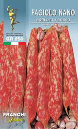 Borlotto Bean Borlotto Rosso Dwarf UK only (A)Phaseolus vulgaris L.